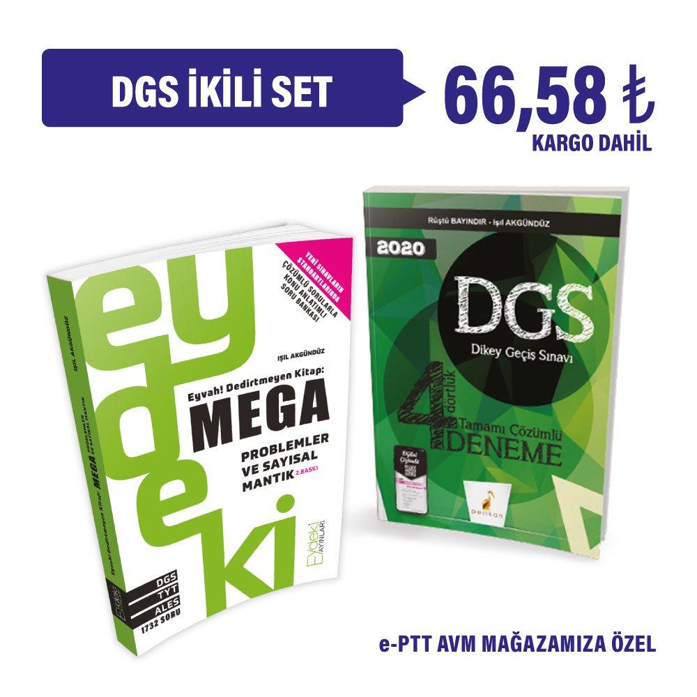 DGS - ikili kampanya. Eyvah Dedirtmeyen Kitap: Mega ve 40 Hikayede Sayısal ve Sözel Mantık Problemleri bir arada. Kargo Dahil 62₺ sadece Eptt AVM mağazamızda