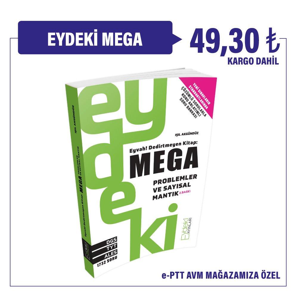 DGS,TYT,ALES Eyvah Dedirtmeyen Kitap: Mega 49,30₺ Kargo Dahil Fiyatıyla sadece epttAVM mağazamızda